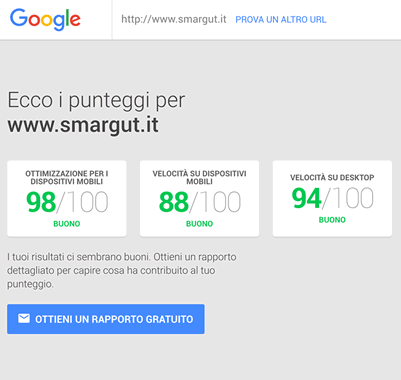 Migliorare le performance di PageSpeed
